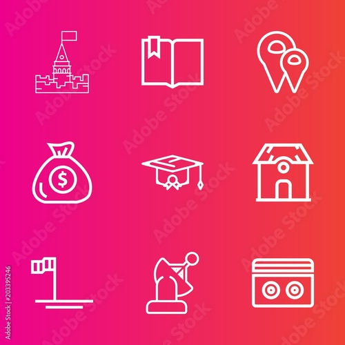 Premium Set With Outline Vector Icons Such As Technology Stereo