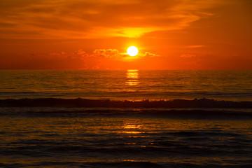 Beautiful sunrise over the tropical beach