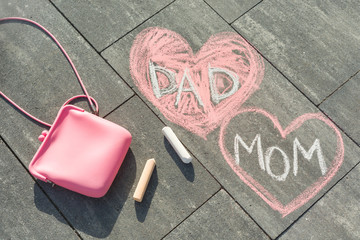 text - Mom and Dad in heart