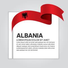 Albania flag background