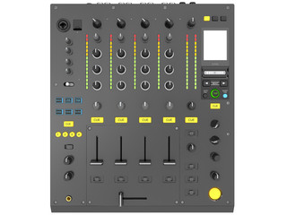 dj console with buttons and connections isolated on a white background 3d rendering