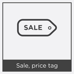 Sale, price tag icon isolated on white background