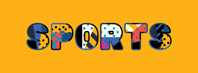 Sports Concept Word Art Illustration
