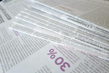 journaux titre 30%