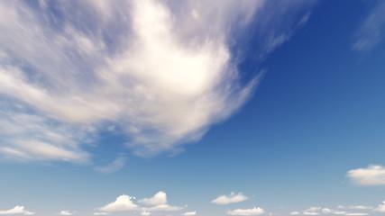 3D Rendering Fluffy Cloud Blue Sky Illustration