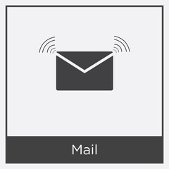 Mail icon isolated on white background