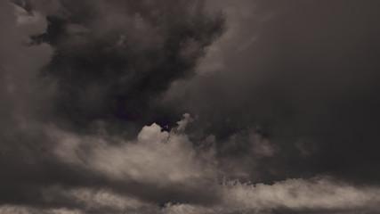 3d Rendering Black Cloud Sky Background