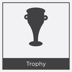 Trophy icon isolated on white background