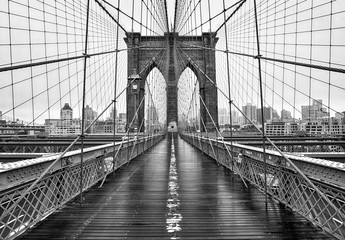 Zelfklevend Fotobehang Brooklyn Bridge Brooklyn bridge of New York City