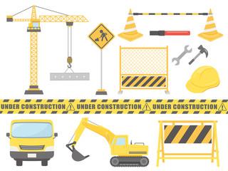 工事のイラスト素材セット