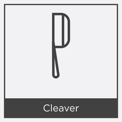 Cleaver icon isolated on white background