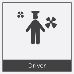Driver icon isolated on white background