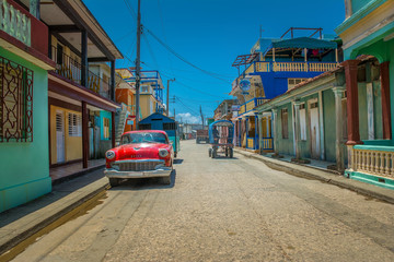 Street in the town of Baracoa, Cuba