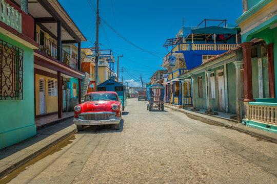 Street in the town of Baracoa, Cuba