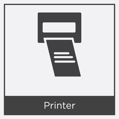 Printer icon isolated on white background