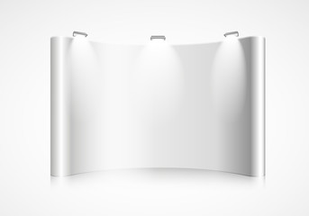curved exhibition wall