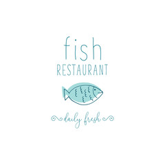 Hand Drawn Doodle Sketch Seafood illustration. Nautical background for seafood or fish restaurants, bars, markets or festivals. Vector template