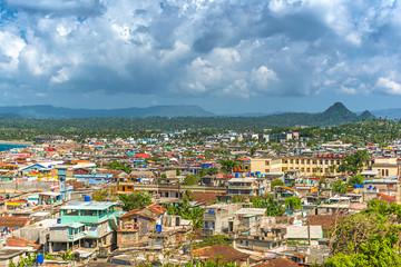View over Baracoa, Cuba