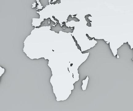 Cartina Giografica Africa.Cartina Dell Africa Bianca Cartina Geografica Cartografia Atlante Geografico Stock Illustration Adobe Stock