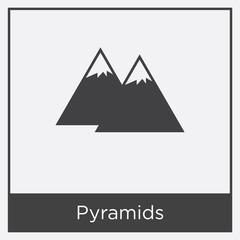 Pyramids icon isolated on white background