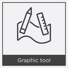 Graphic tool icon isolated on white background