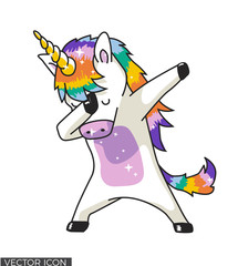 Dabbing Unicorn Vector Design
