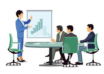 Geschäftsbesprechung, Unternehmens Bilanz