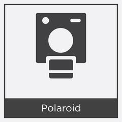 Polaroid icon isolated on white background