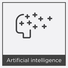 Artificial intelligence icon isolated on white background