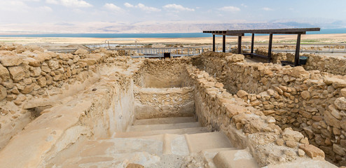 Ritual bath for ablution in Qumran National Park, Israel