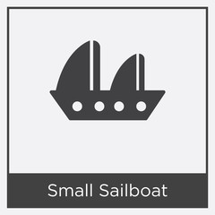 Small Sailboat icon isolated on white background
