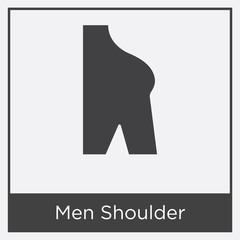 Men Shoulder icon isolated on white background