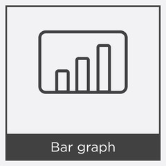 Bar graph icon isolated on white background