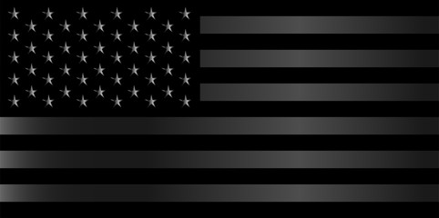 American flag background vector silver