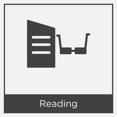 Reading icon isolated on white background