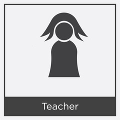 Teacher icon isolated on white background