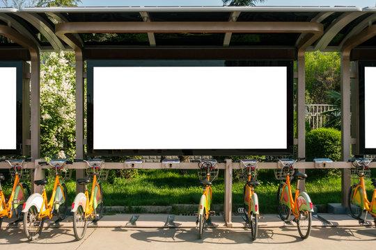 Bus Stop Advertisement Mockup Urban City Environment China Asia_