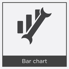 Bar chart icon isolated on white background