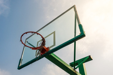 A Close-up of Basketball Board in China