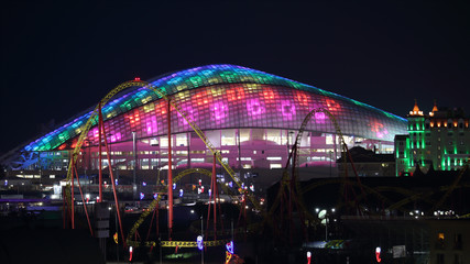 Foto auf Gartenposter Stadion Sochi Fisht arena night panoramic 16:9 horizontal