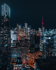 Wall Murals Toronto Toronto Epic Night City Skyline