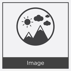 Image icon isolated on white background