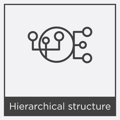 Hierarchical structure icon isolated on white background