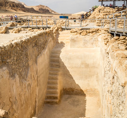 Water collecting cistern in Qumran National Park, Israel