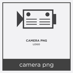 camera png icon isolated on white background