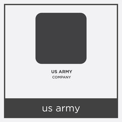 us army icon isolated on white background