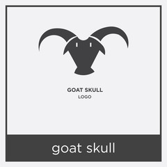 goat skull icon isolated on white background
