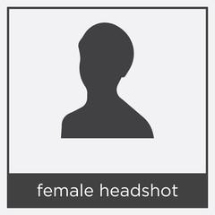 female headshot icon isolated on white background