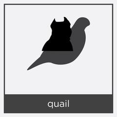 quail icon isolated on white background
