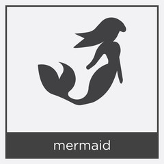 mermaid icon isolated on white background